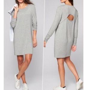 ATHLETA   gray crossover sweatshirt dress t-shirt